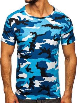 Bolf Herren T-Shirt Camo Azurblau  S807