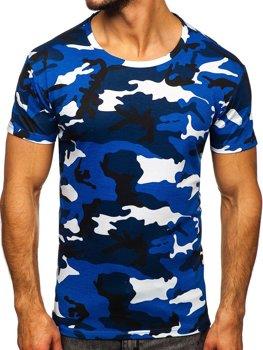 Bolf Herren T-Shirt Camo Blau  S807