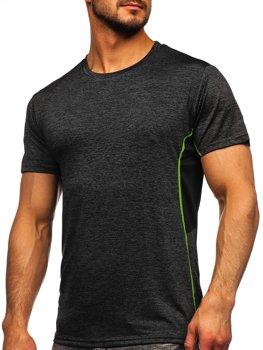 Bolf Herren T-Shirt Sportshirt Schwarz  HM073