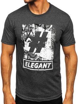 Bolf Herren T-Shirt mit Motiv Anthrazit  14456