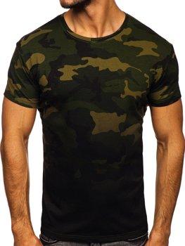 Bolf Herren T-Shirt mit Motiv Camo Khaki  S808
