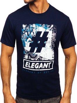 Bolf Herren T-Shirt mit Motiv Dunkelblau  14456