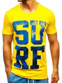 Bolf Herren T-Shirt mit Motiv Gelb  1240