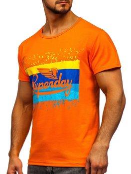 Bolf Herren T-Shirt mit Motiv Orange  KS1966