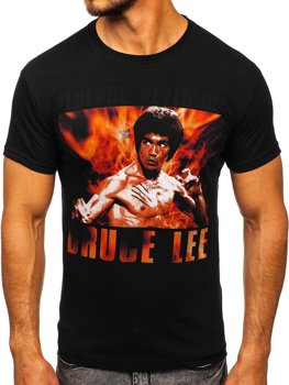 Bolf Herren T-Shirt mit Motiv Schwarz  001