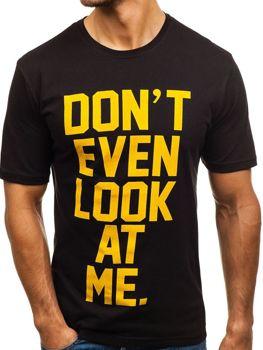 Bolf Herren T-Shirt mit Motiv Schwarz  6294
