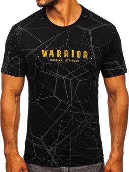 Bolf Herren T-Shirt mit Motiv Schwarz SS10935