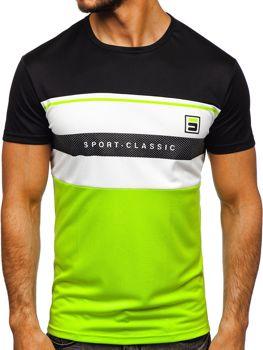 Bolf Herren T-Shirt mit Motiv Schwarz  SS10995
