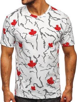 Bolf Herren T-Shirt mit Motiv Weiß  14905