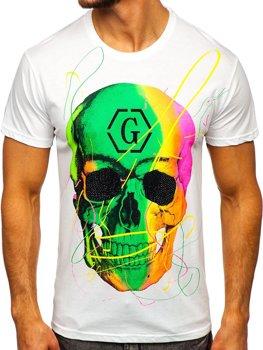 Bolf Herren T-Shirt mit Motiv Weiß  KS2107