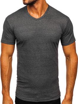 Bolf Herren T-Shirt mit V-Ausschnitt Anthrazit  192131
