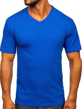 Bolf Herren T-Shirt mit V-Ausschnitt Blau  192131