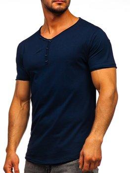 Bolf Herren T-Shirt mit V-Ausschnitt Dunkelblau 4049