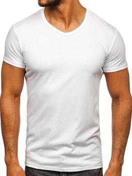 Bolf Herren T-Shirt mit V-Ausschnitt Weiß  2007