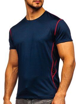 Bolf Herren T-Shirt ohne Motiv Dunkelblau  KS2104