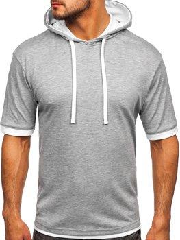 Bolf Herren T-Shirt ohne Motiv Grau  08