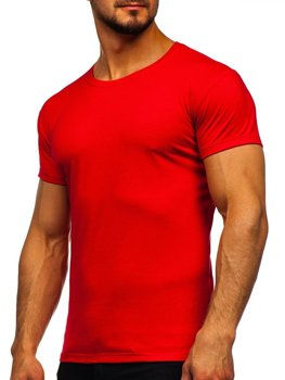 Bolf Herren T-Shirt ohne Motiv Rot  2005
