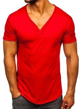 Bolf Herren T-Shirt ohne Motiv Rot  4049