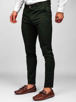 Bolf Herren Textilhose Chino Hose Grün 0015