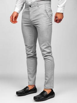 Bolf Herren Textilhose Chino Hose Hellgrau 0016