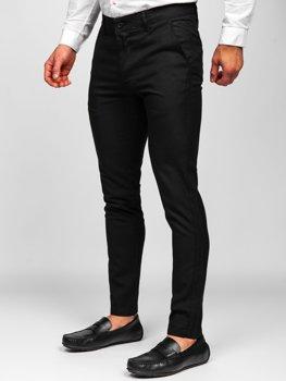 Bolf Herren Textilhose Chino Hose Schwarz 0017