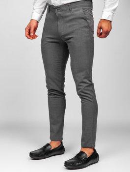 Bolf Herren Textilhose Chino Hose Schwarzgrau 0016