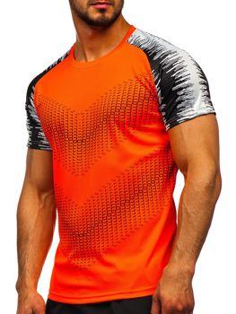Bolf Herren Trekking Shirt mit Motiv Orange  KS2061