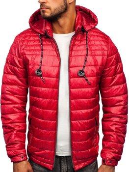 Bolf Herren Übergangsjacke Sport Jacke mit Steppmuster Rot  50A411