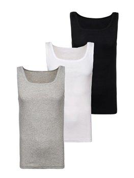 Bolf Herren Unterhemd Mehrfarbig 3 Pack  C10050-3P