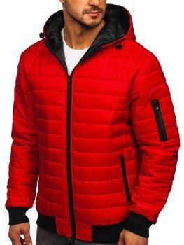 Bolf Herren Winterjacke Sport Jacke Rot MY13M