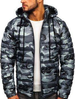 Bolf Herren Winterjacke Sport Jacke mit Steppmuster Grau  50A469