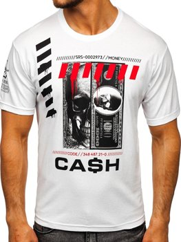 Bolf HerrenT-Shirt mit Aufdruck Weiß  14315