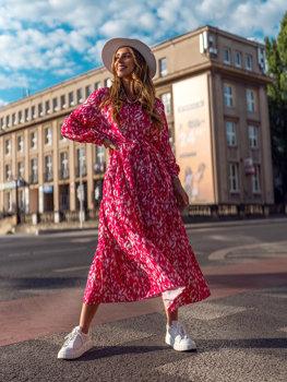 Damen Kleid Rosa A468