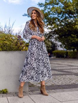 Damen Kleid Weiß  A468