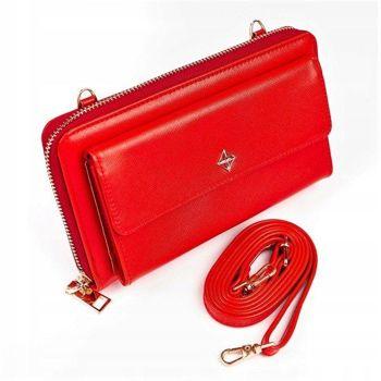 Damen Ökoleder Geldbörse Rot 1117