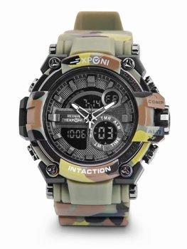Herren Armbanduhr Camo Grün  3258