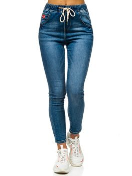 Bolf Damen Jeanshose Boyfriend  Dunkelblau  DM9338