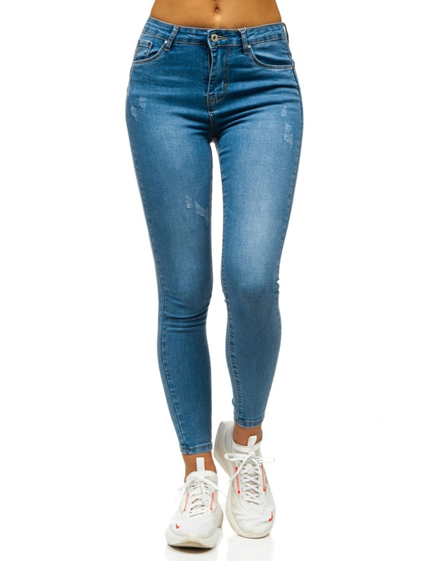 Bolf Damen Jeanshose Push Up  Blau  S3713