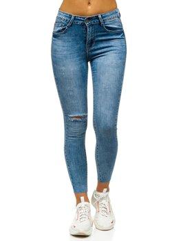 Bolf Damen Jeanshose Skinny Blau  S3336