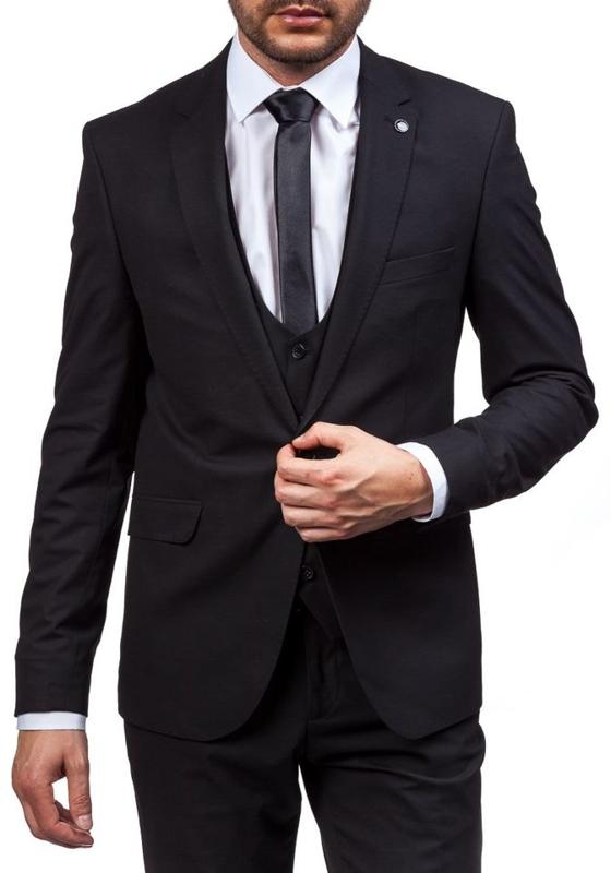 Bolf Herren Anzug Schwarz 5005-1
