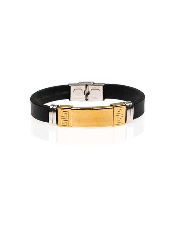 Bolf Herren Armband Schwarz B044