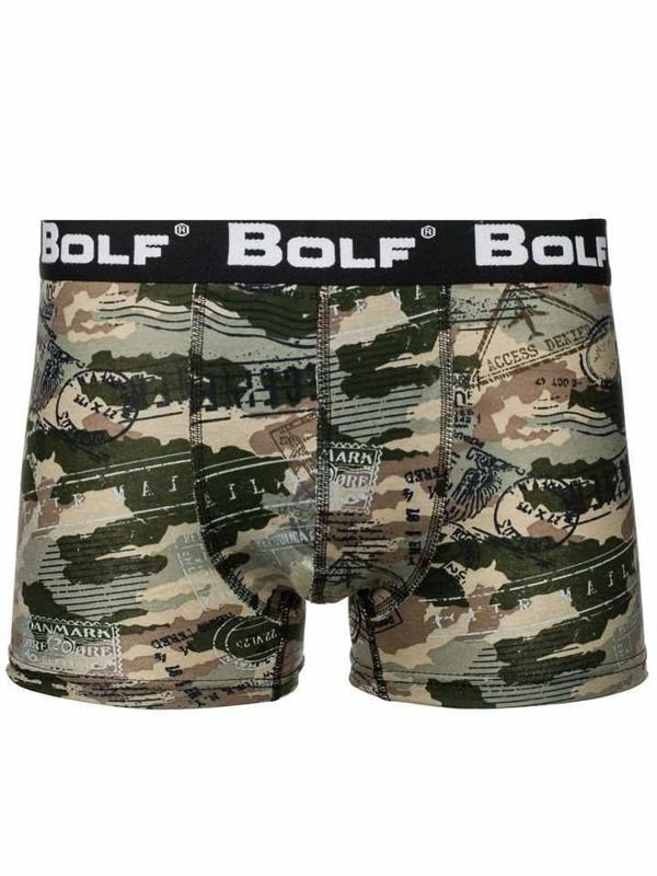 Bolf Herren Boxershorts Camo-Khaki  0953-5