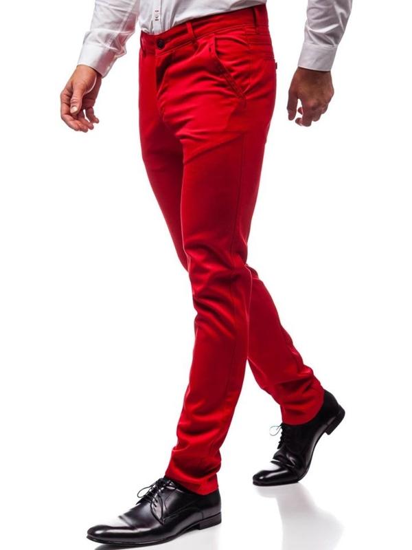 Bolf Herren Elegante Hose Rot  3166