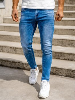 Bolf Herren Jeans Hose skinny fit Dunkelblau  KX398