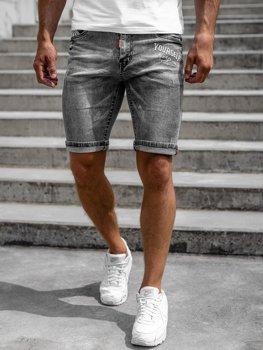 Bolf Herren Jeans Shorts Schwarz  HY776