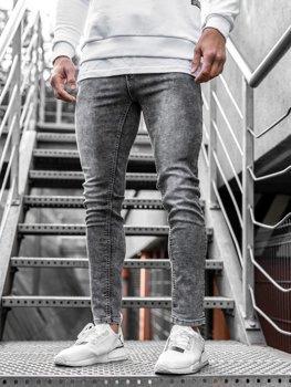 Bolf Herren Jeanshose Grau  KX189