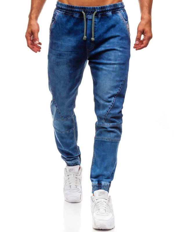 Bolf Herren Jeanshose Jogger Blau  620