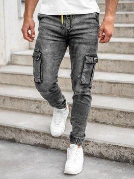 Bolf Herren Jeanshose Jogger Pants Schwarz HY687