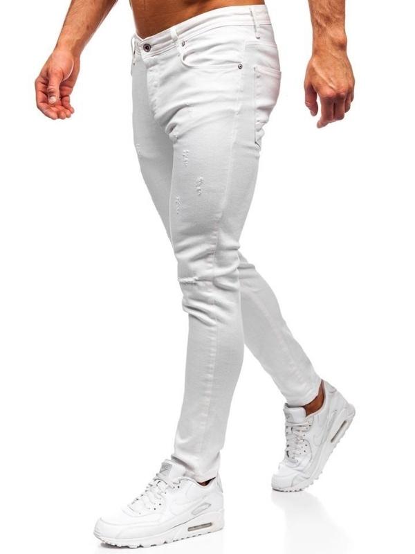 Bolf Herren Jeanshose Slim fit Weiß  55118