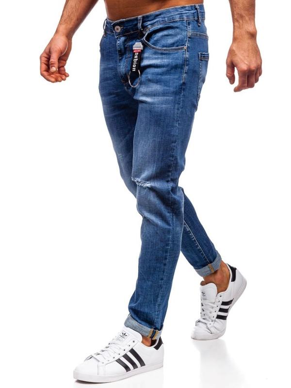 Bolf Herren Jeanshose regular fit Dunkelblau  KX296
